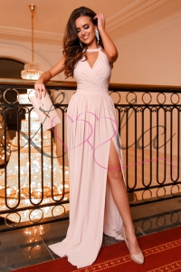 Long beige dress DESIRE